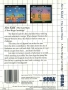 Sega  Master System  -  Alex Kidd The Lost Stars (Back)